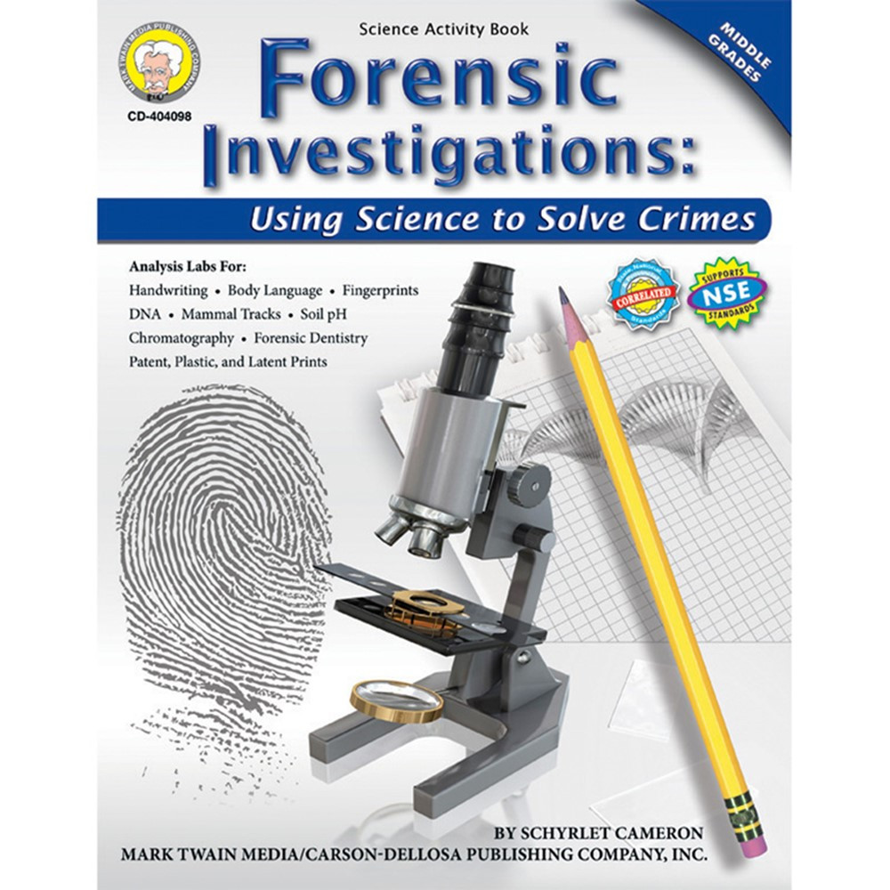 CD-404098 - Forensic Investigations Activity Book Gr 4-8 in Activity Books & Kits