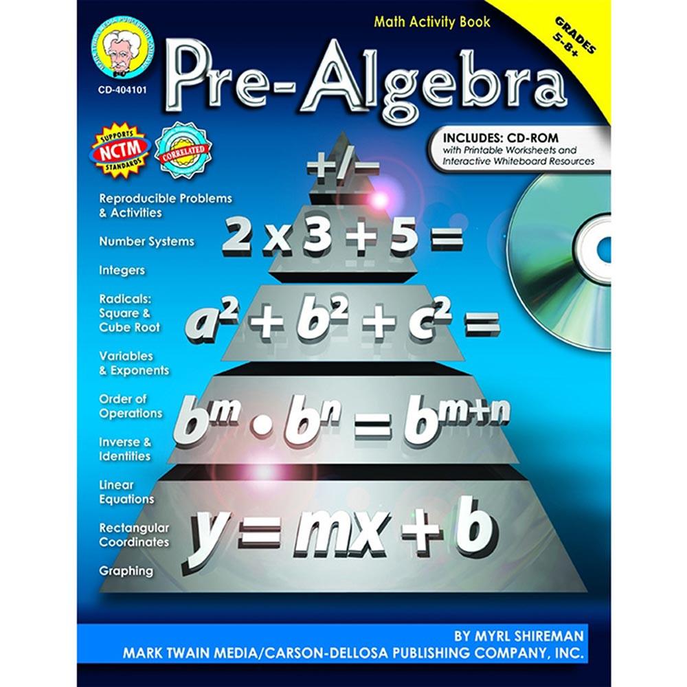 Pre-Algebra, Grades 5 - 12 - CD-404101 | Carson Dellosa