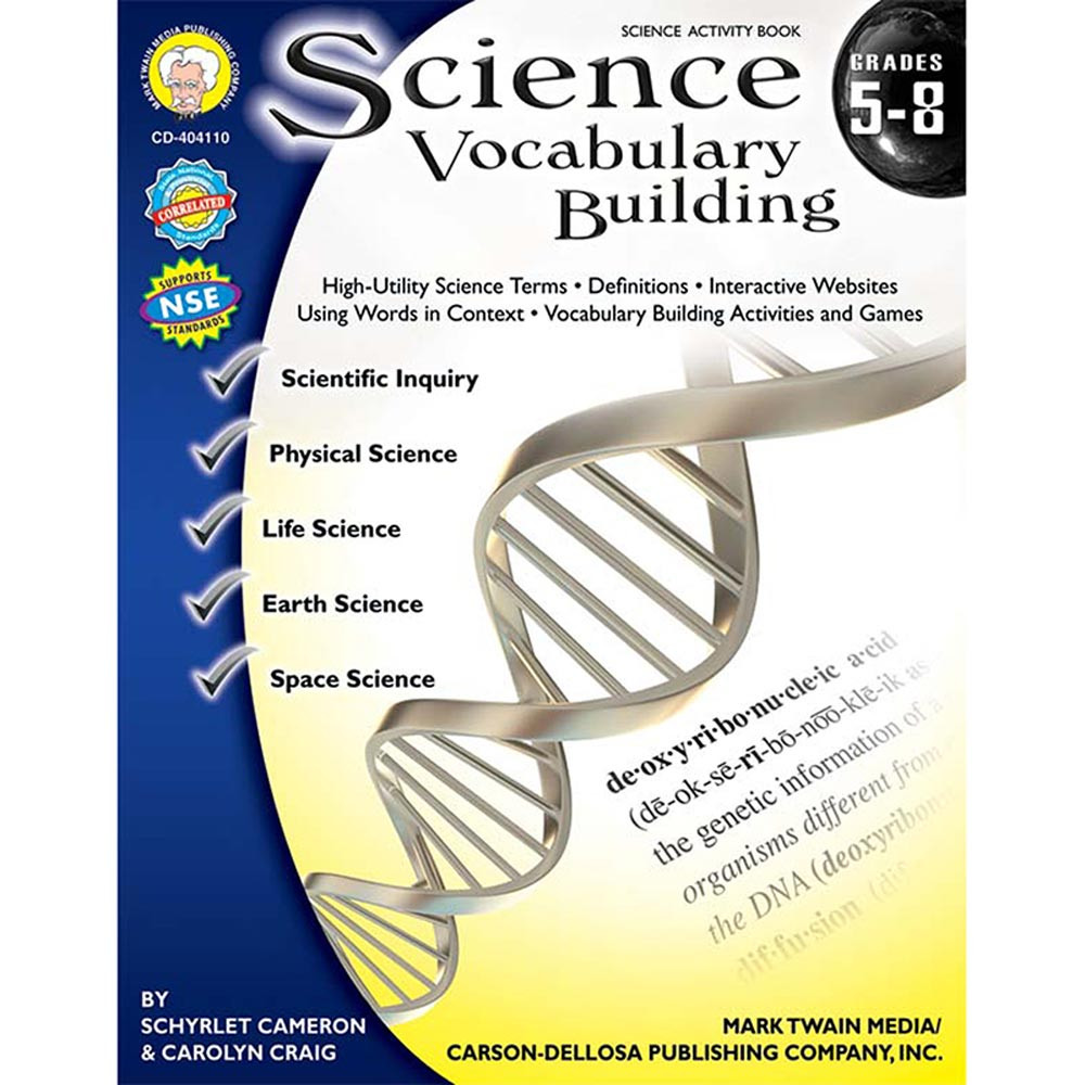 CD-404110 - Science Vocabulary Building Book Gr 5-8 in Activity Books & Kits