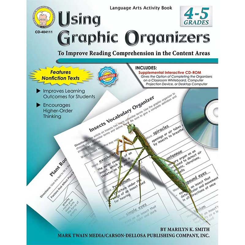 CD-404111 - Using Graphic Organizers Book Gr 4-5 in Graphic Organizers