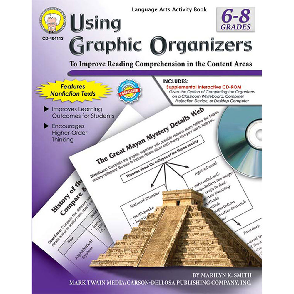 CD-404113 - Using Graphic Organizers Book Gr 6-7 in Graphic Organizers