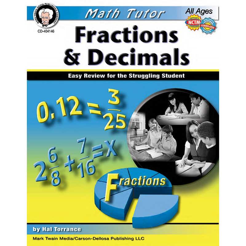CD-404146 - Math Tutor Fractions And Decimals in Fractions & Decimals