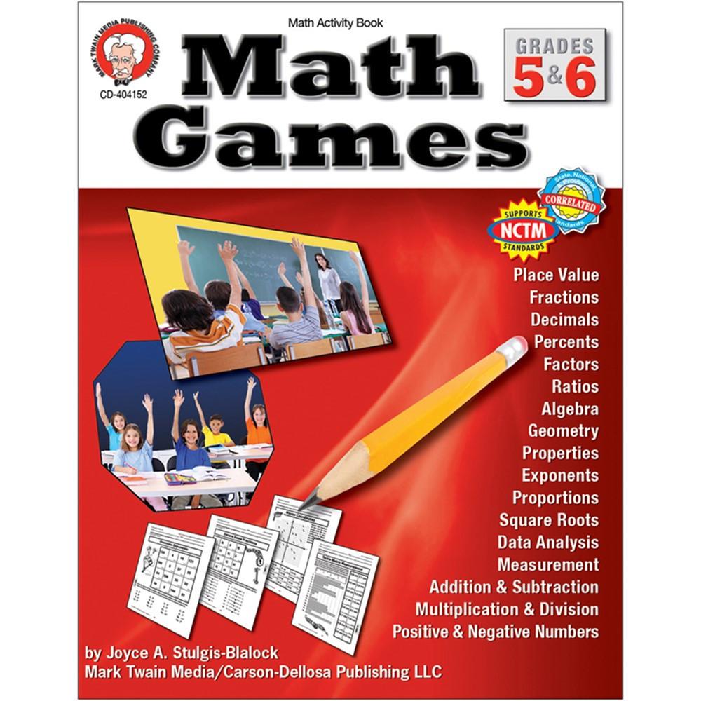 CD-404152 - Math Games Gr 5-6 in Math