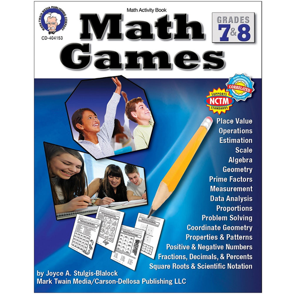 CD-404153 - Math Games Gr 7-8 in Math
