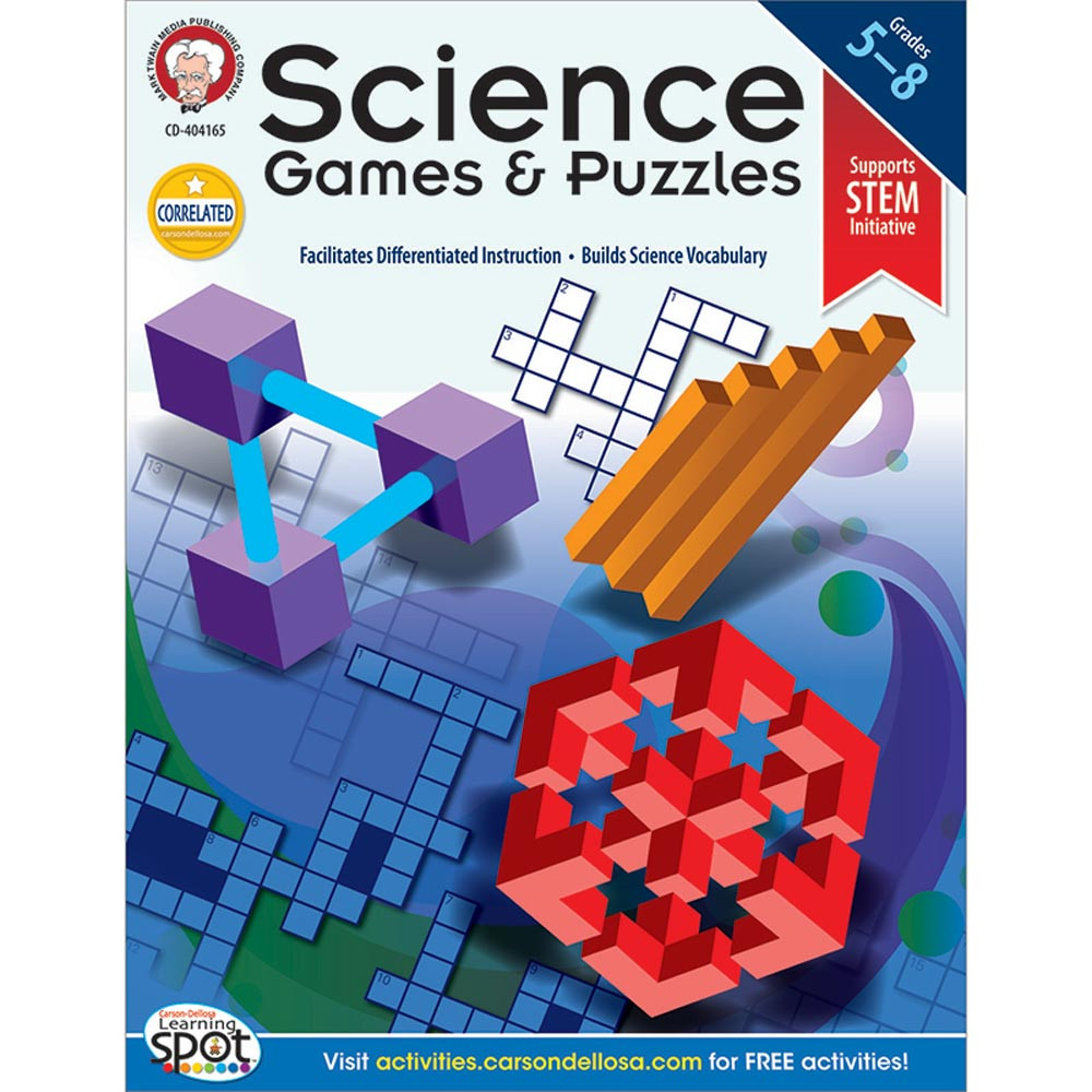 CD-404165 - Science Games And Puzzles in Activity Books & Kits