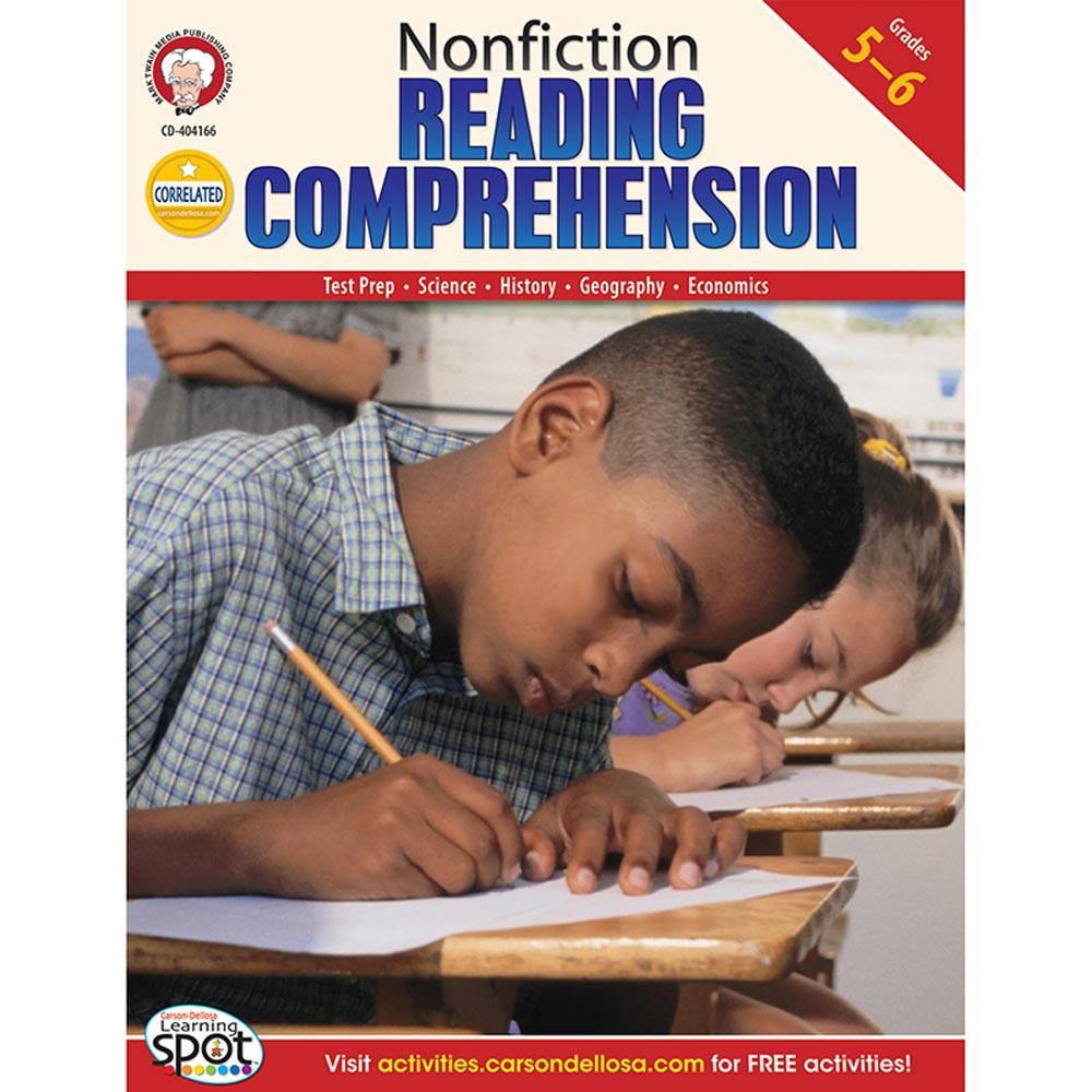 CD-404166 - Nonfiction Reading Comprehension Test Prep Gr 5-6 in Language Arts