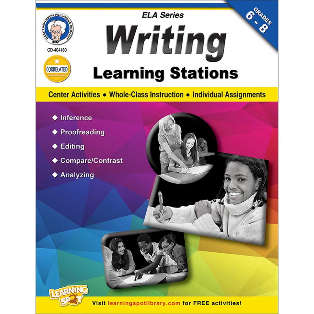 CD-404180 - Writing Learning Stations Gr 6-8 in Writing Skills