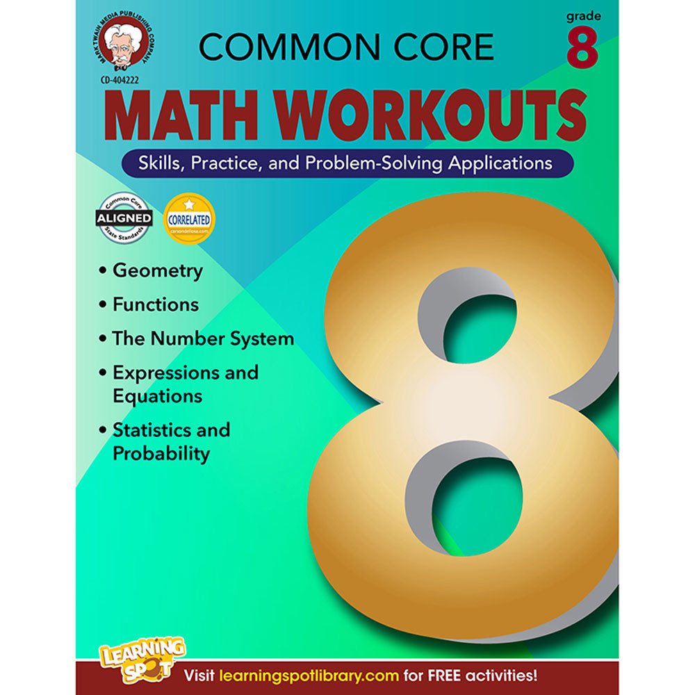 Common Core Math Workouts, Grade 8 - CD-404222 | Carson Dellosa ...