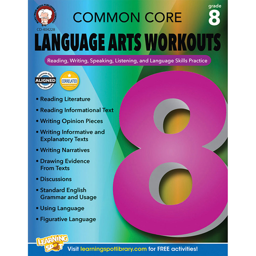 CD-404228 - Gr 8 Common Core Language Arts Workouts in Reading Skills