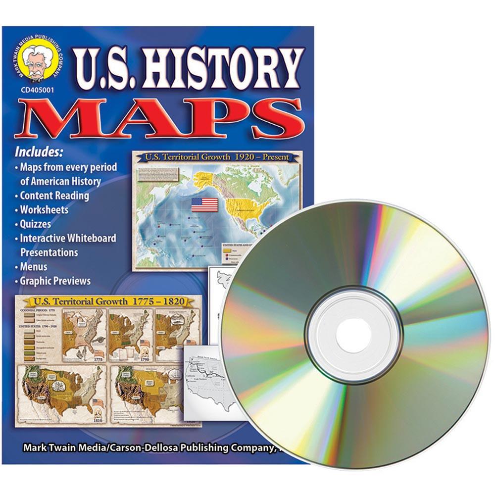 CD-405001 - Us History Maps Clip Art Cd in Clip Art