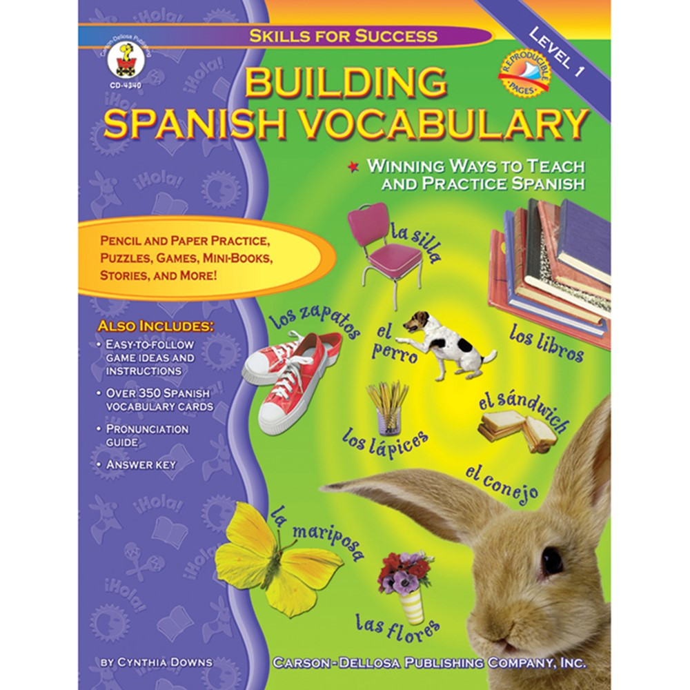 Building Spanish Vocabulary - CD-4340 | Carson Dellosa ...