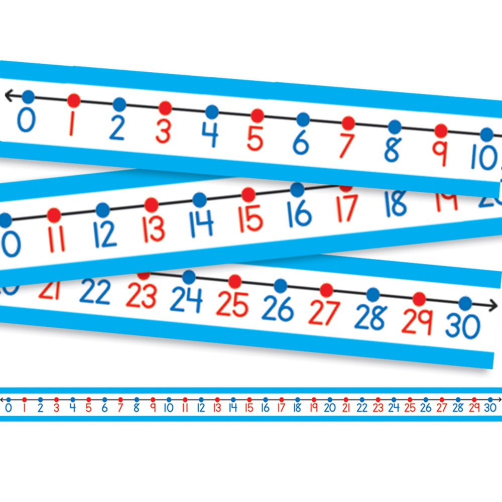 Classroom Decor Numbers ~ Student number lines cd carson dellosa