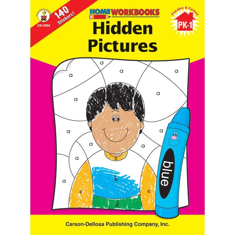 CD-4504 - Home Workbook Hidden Pictures Gr Pk-1 in Skill Builders