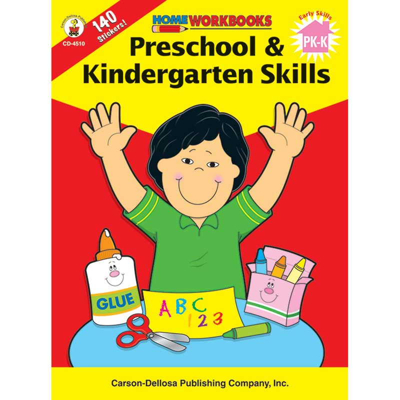 CD-4510 - Home Workbook Pk & Kinder Skills Gr Pk-1 in Skill Builders