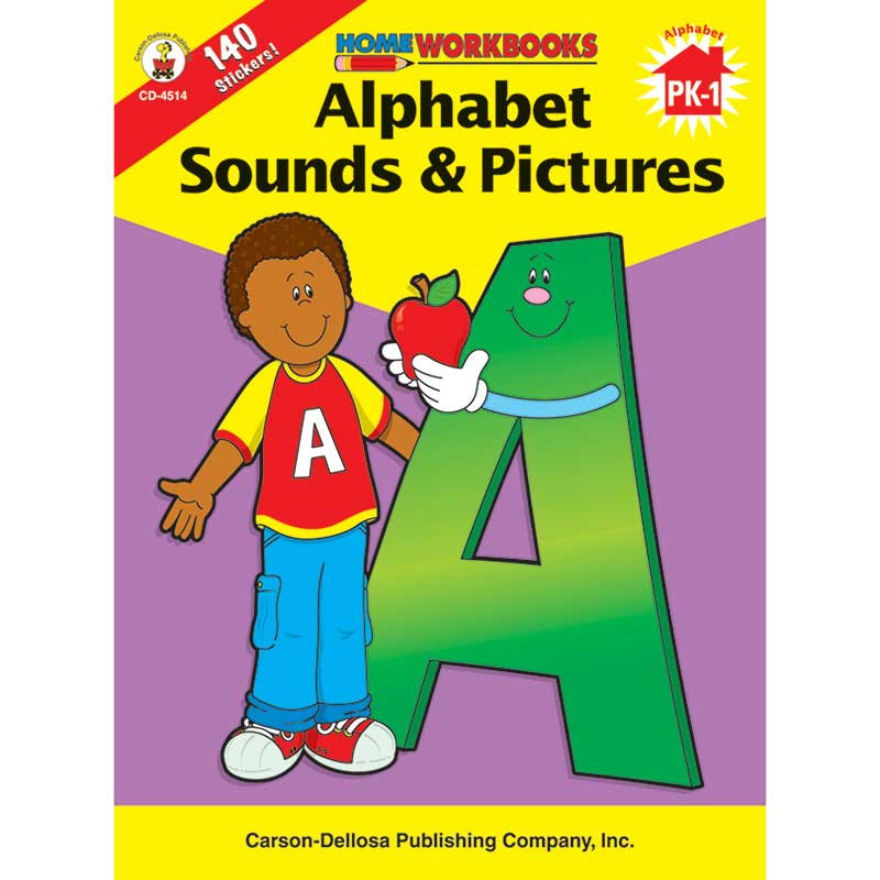 CD-4514 - Home Workbook Alphabet Sounds & Gr Pk-1 Pictures in Letter Recognition