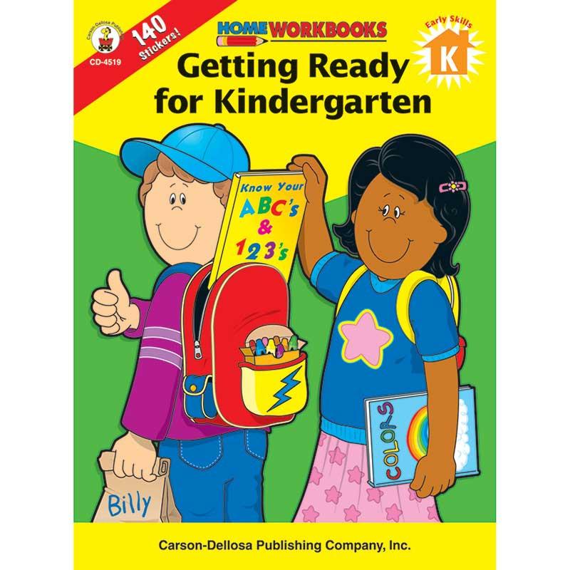 CD-4519 - Home Workbook Getting Ready For Kindergarten in Skill Builders