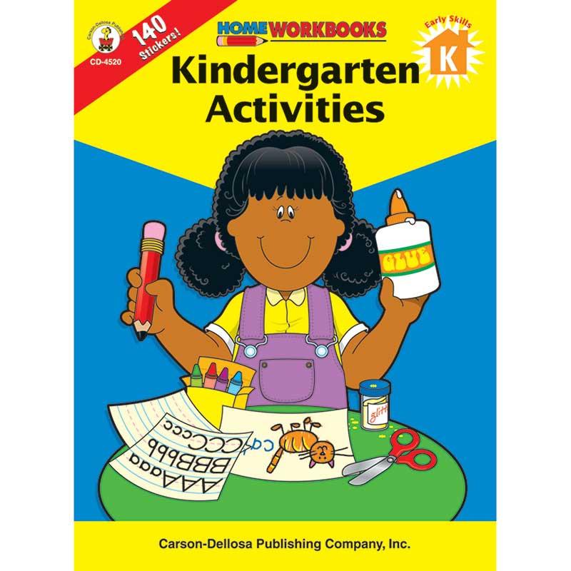 CD-4520 - Kindergarten Activities Home Workbook in Skill Builders