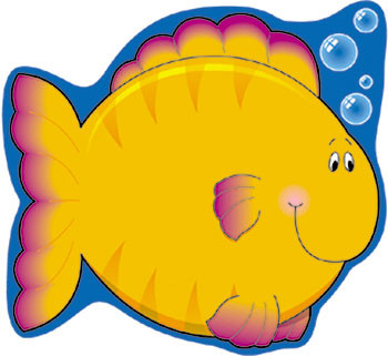 CD-5533 - Colorful Cut-Outs Fish 36/Pk Single Design in Accents