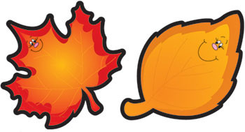CD-5552 - Colorful Cut-Outs Leaves 36/Pk Autumn Assorted Designs in Holiday/seasonal