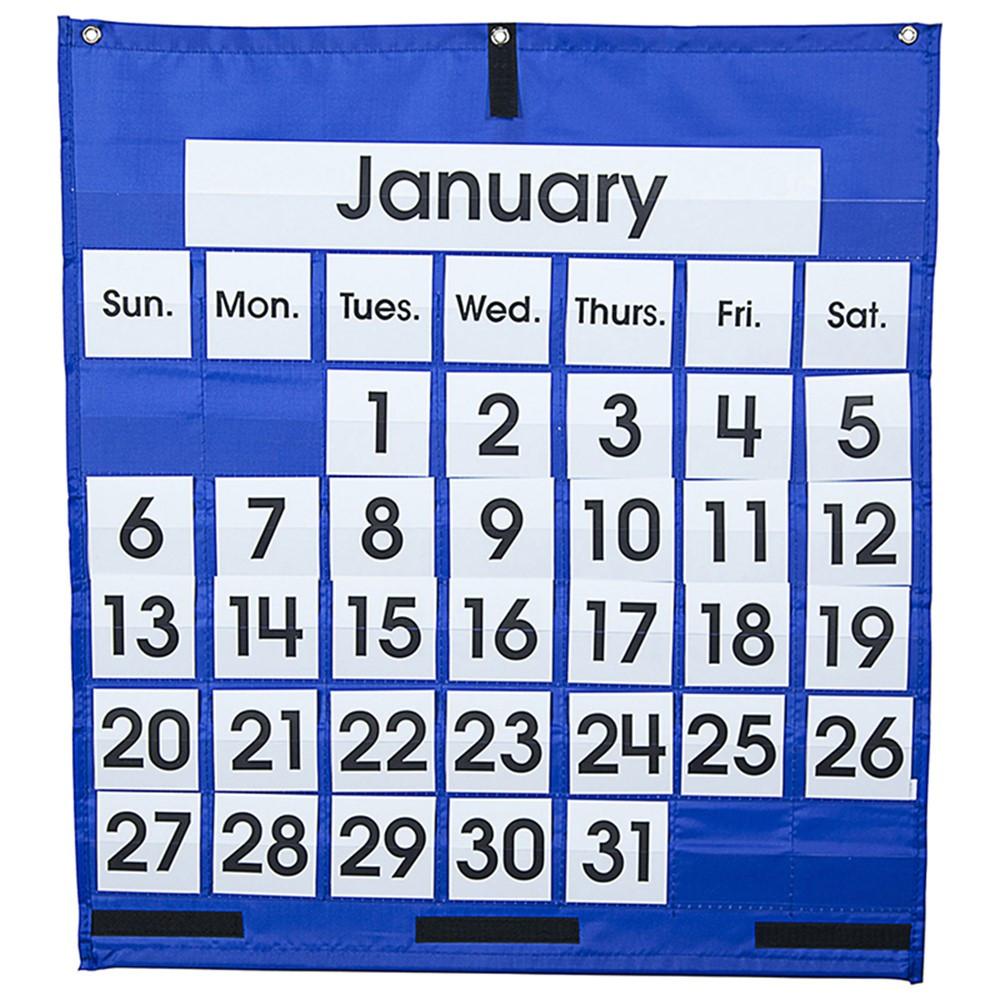 CD-5605 - Pocket Chart Monthly Calendar 25 X 28 in Calendars