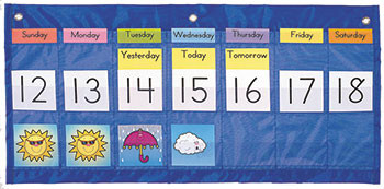 CD-5636 - Pocket Chart Weekly Calend Weather 25 X 13 & Up 56 Weather Cards in Pocket Charts