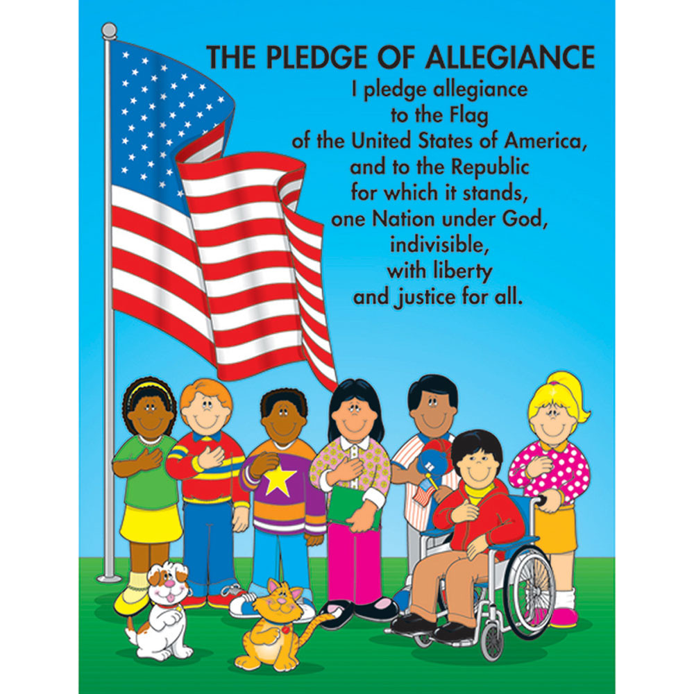 CD-6111 - Chartlet The Pledge Of Allegiance 17 X 22 in Social Studies