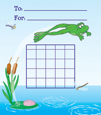 CD-6129 - Mini Incentive Charts Frog 36/Pk 5 X 6 in Incentive Charts