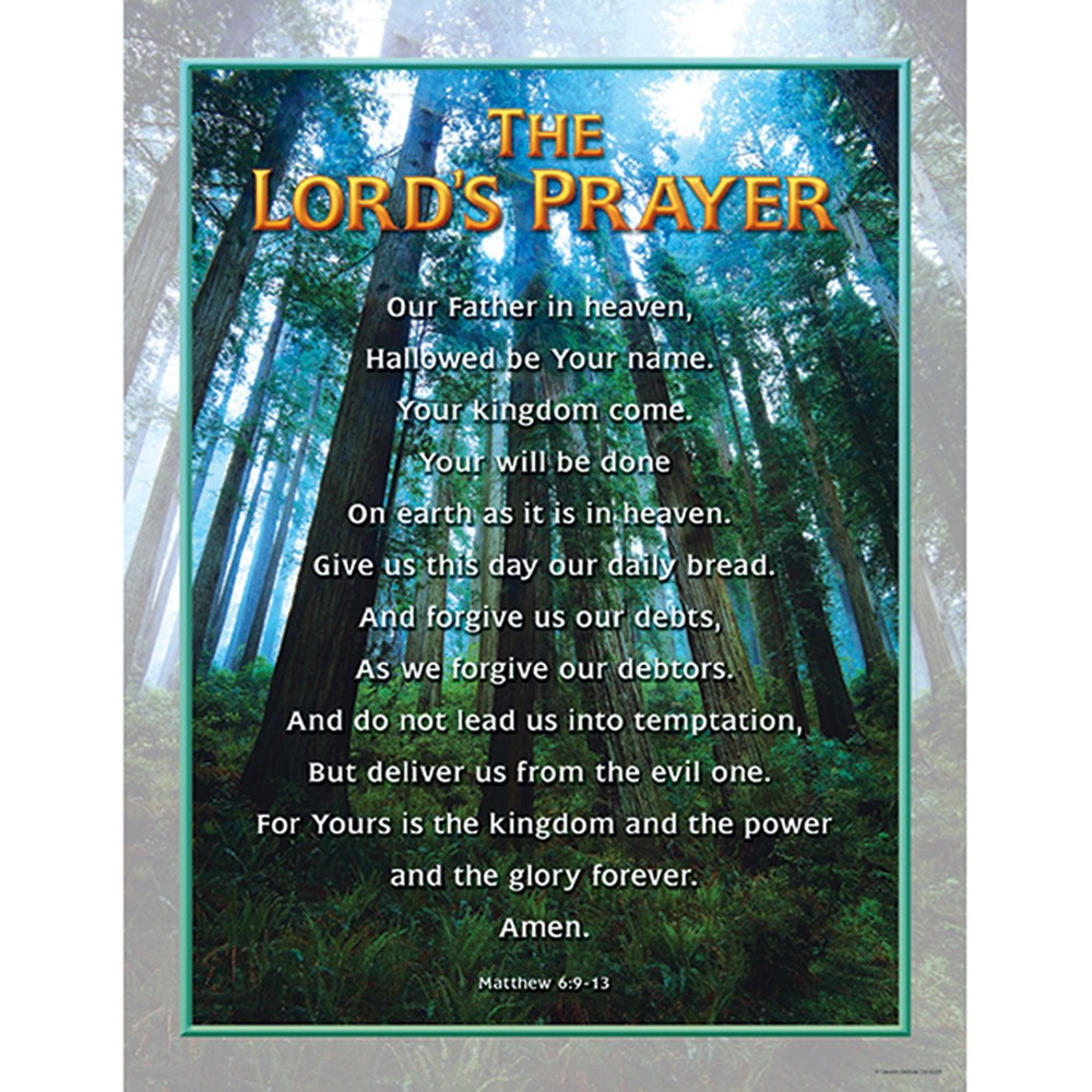 CD-6328 - Chartlet The Lords Prayer 17X22 in Inspirational