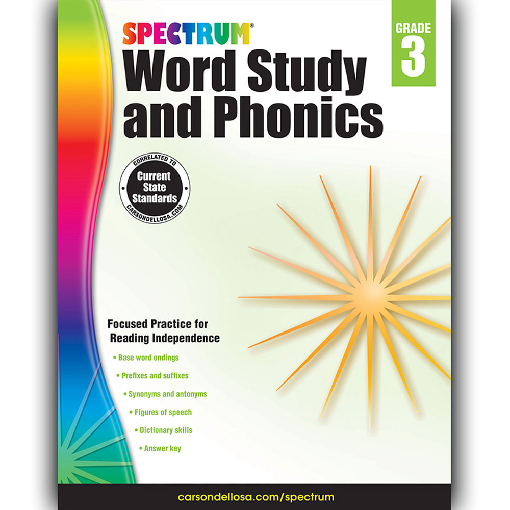 CD-704606 - Spectrum Gr 3 Word Study And Phonics in Word Skills
