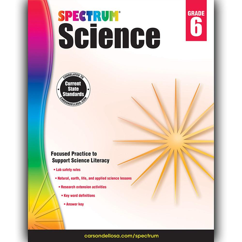 CD-704619 - Spectrum Science Gr 6 in Activity Books & Kits