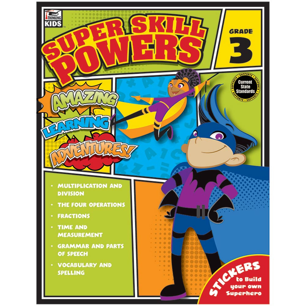CD-704939 - Super Skill Powers Gr 3 in Skill Builders