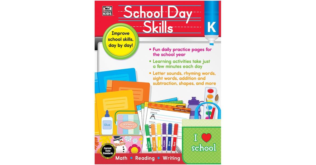CD-704987 - School Day Skills Gr K in Skill Builders
