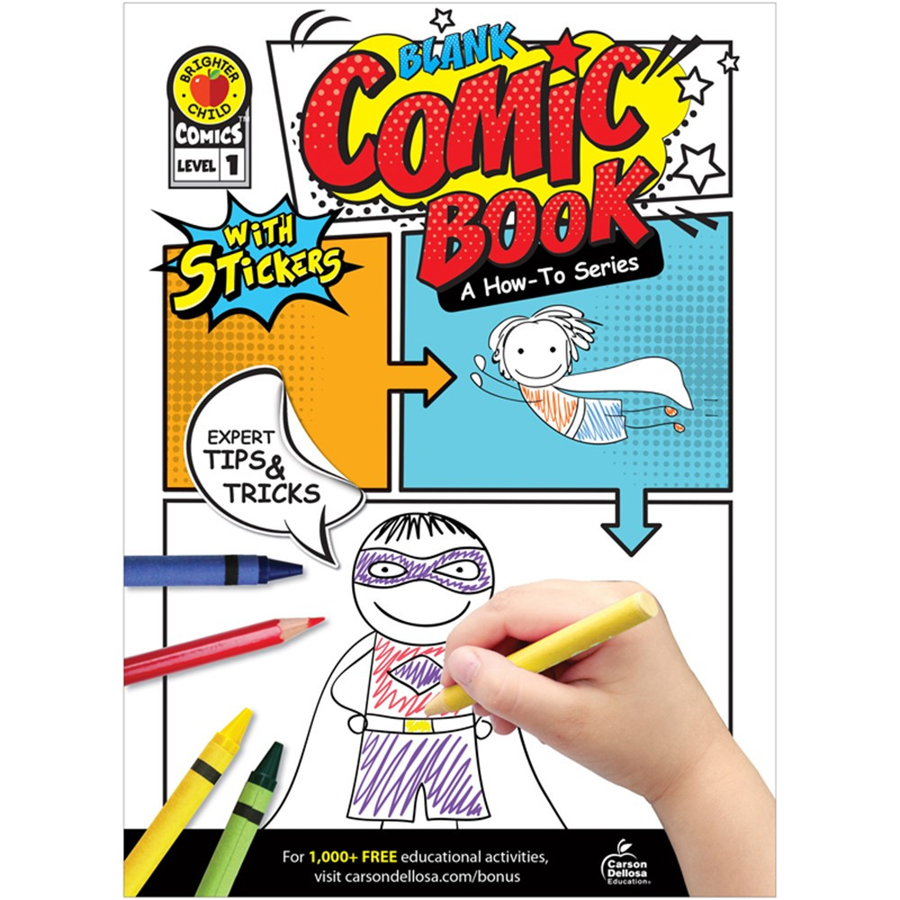 CD-705324 - Blank Comic Book Level 1 A How-To Series in Activities