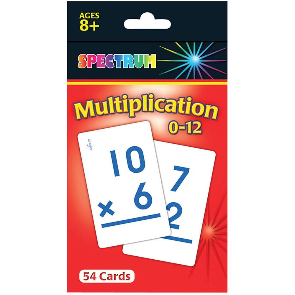 CD-734008 - Spectrum Flash Cards Multiplication 0-12 Gr 3-5 in Flash Cards