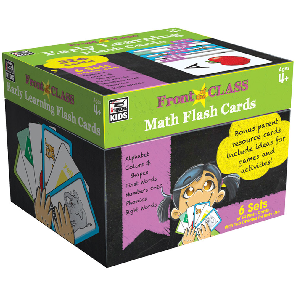CD-734062 - Early Learning Flash Cards Gr Pk-3 in Resources