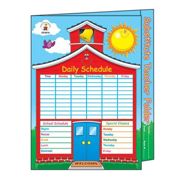 CD-8210 - Substitute Teacher Folder 9-1/2 X 11-1/2 Storage Pocket in Substitute Teachers