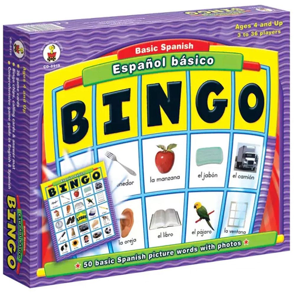 CD-8919 - Espanol Basico Basic Spanish in Bingo