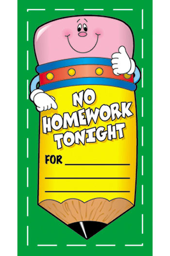 CD-9581 - No Homework Pencil Coupons in Tickets