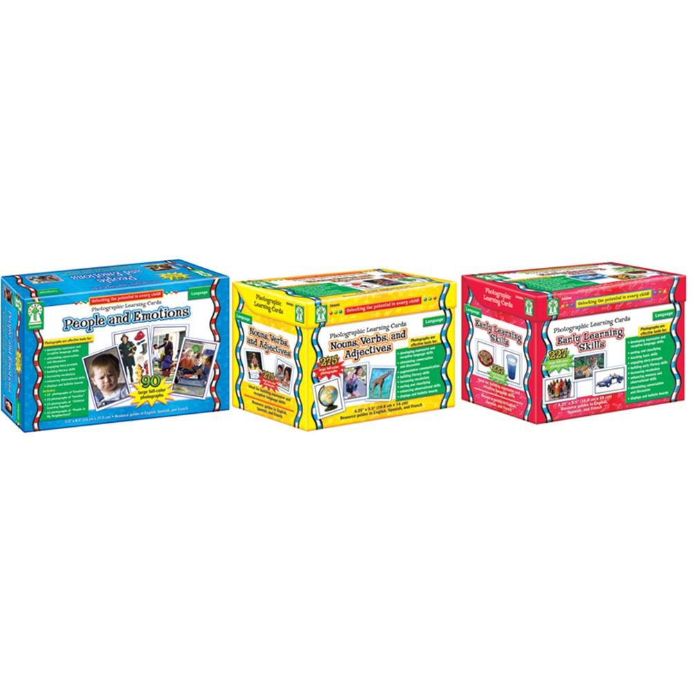 CD-D44047 - Photographic Learning Card Set Classroom Set in Classroom Activities