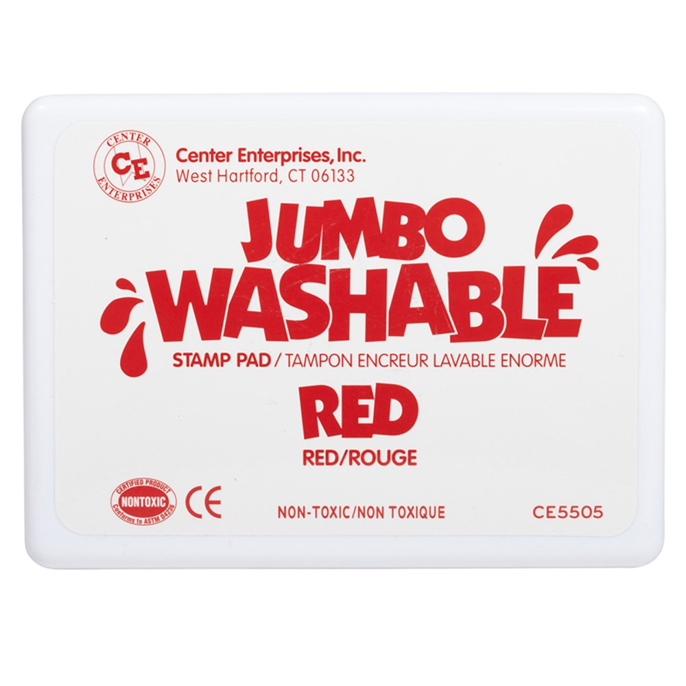 CE-5505 - Jumbo Stamp Pad Red Washable in Stamps & Stamp Pads