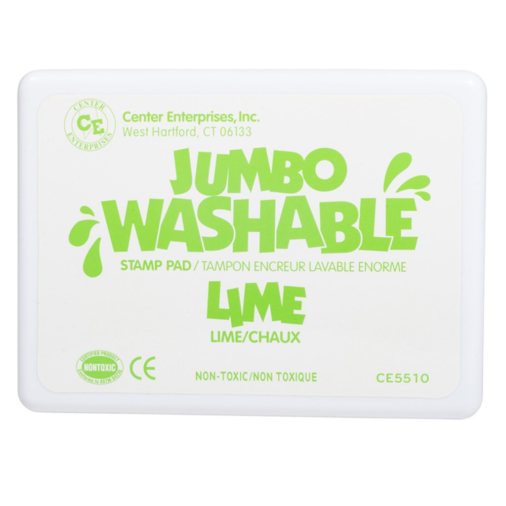 CE-5510 - Jumbo Stamp Pad Lime Green Washable in Stamps & Stamp Pads