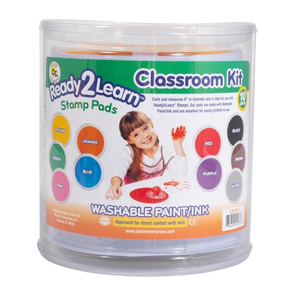 CE-6615 - Jumbo Circular Washable Pads Classroom Kit in Paint