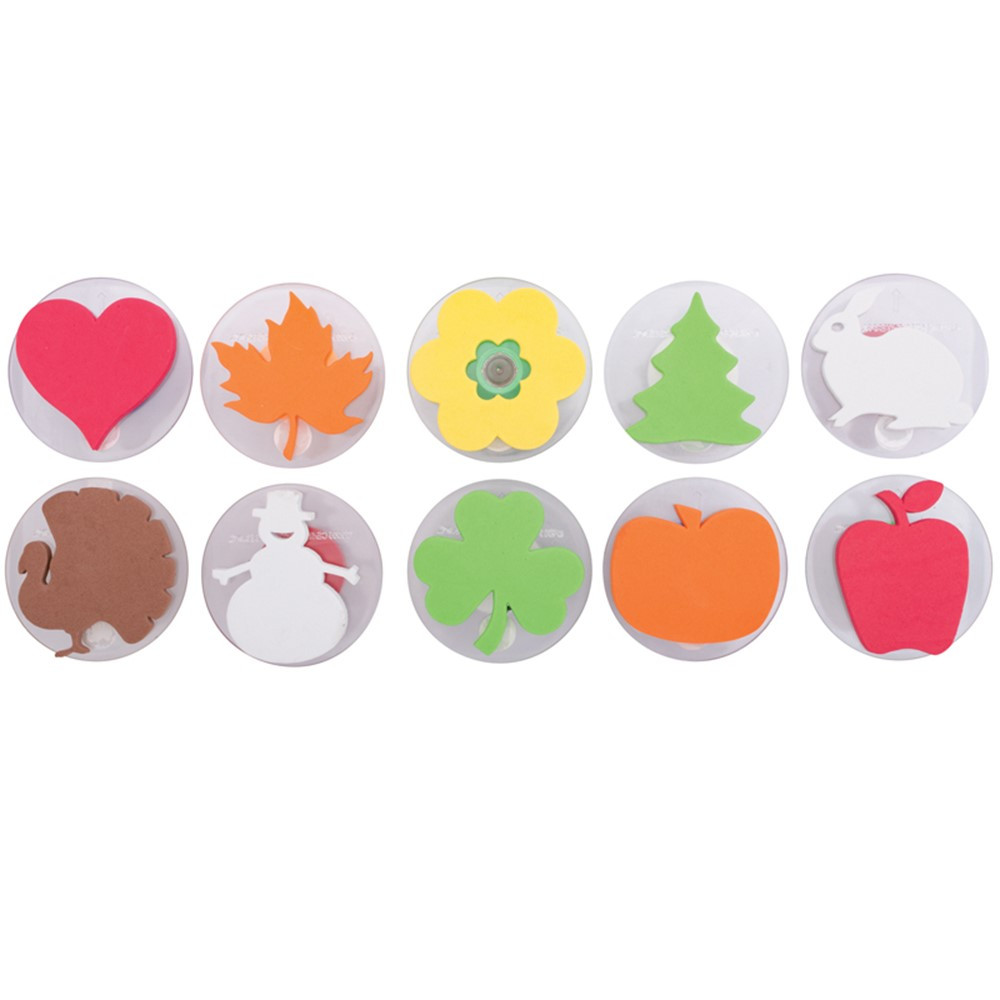 CE-6726 - Ready2learn Giant Holiday Stamps Set Of 10 in Stamps