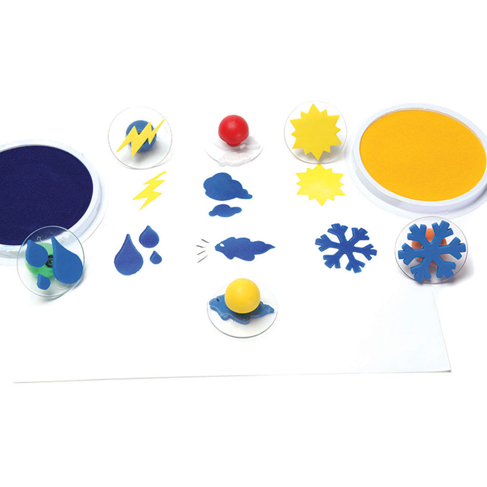 CE-6764 - Ready2learn Giant Weather Stamps Set Of 6 in Stamps