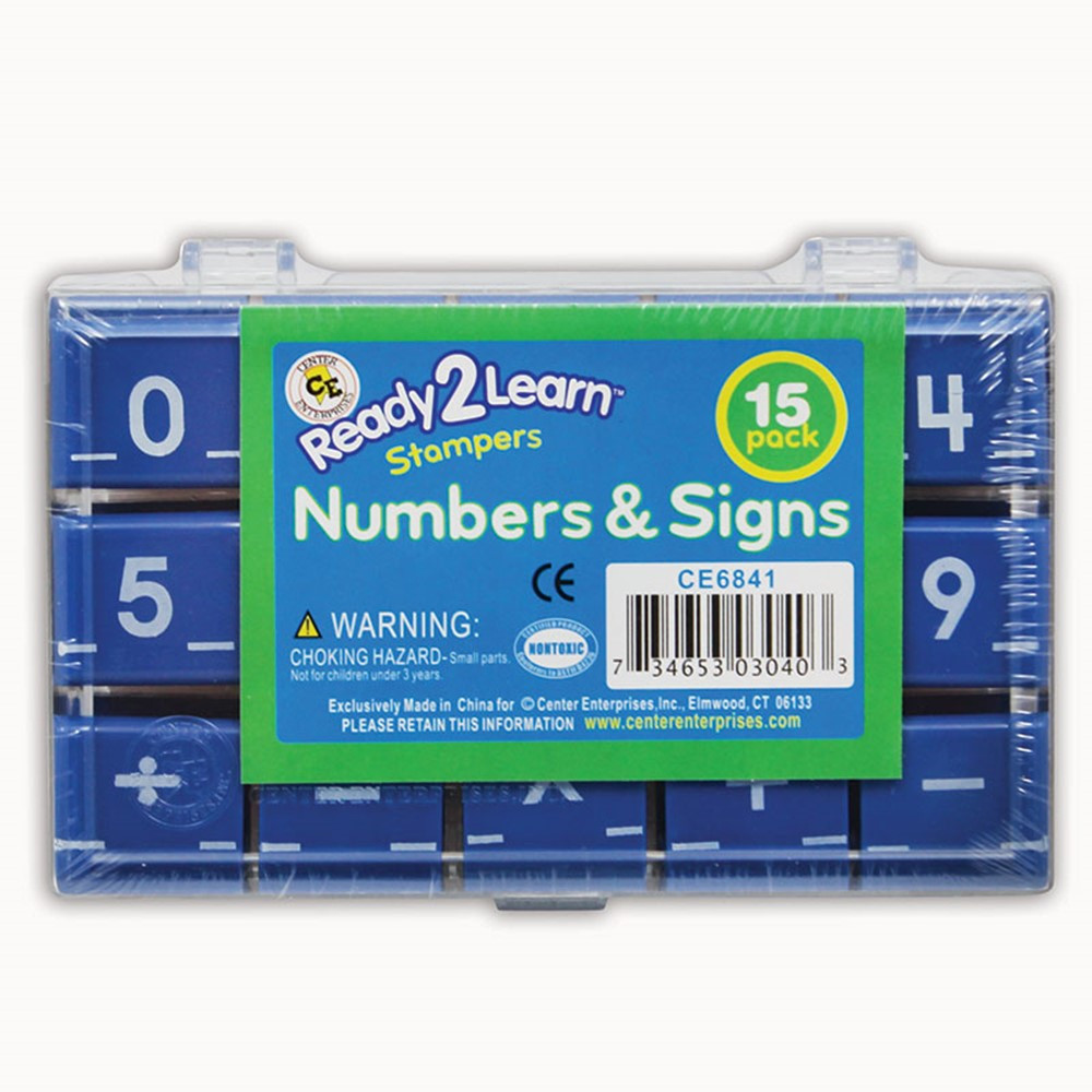 CE-6841 - Manuscript Numbers Stamp Set 1 Numbers & Signs in Stamps & Stamp Pads