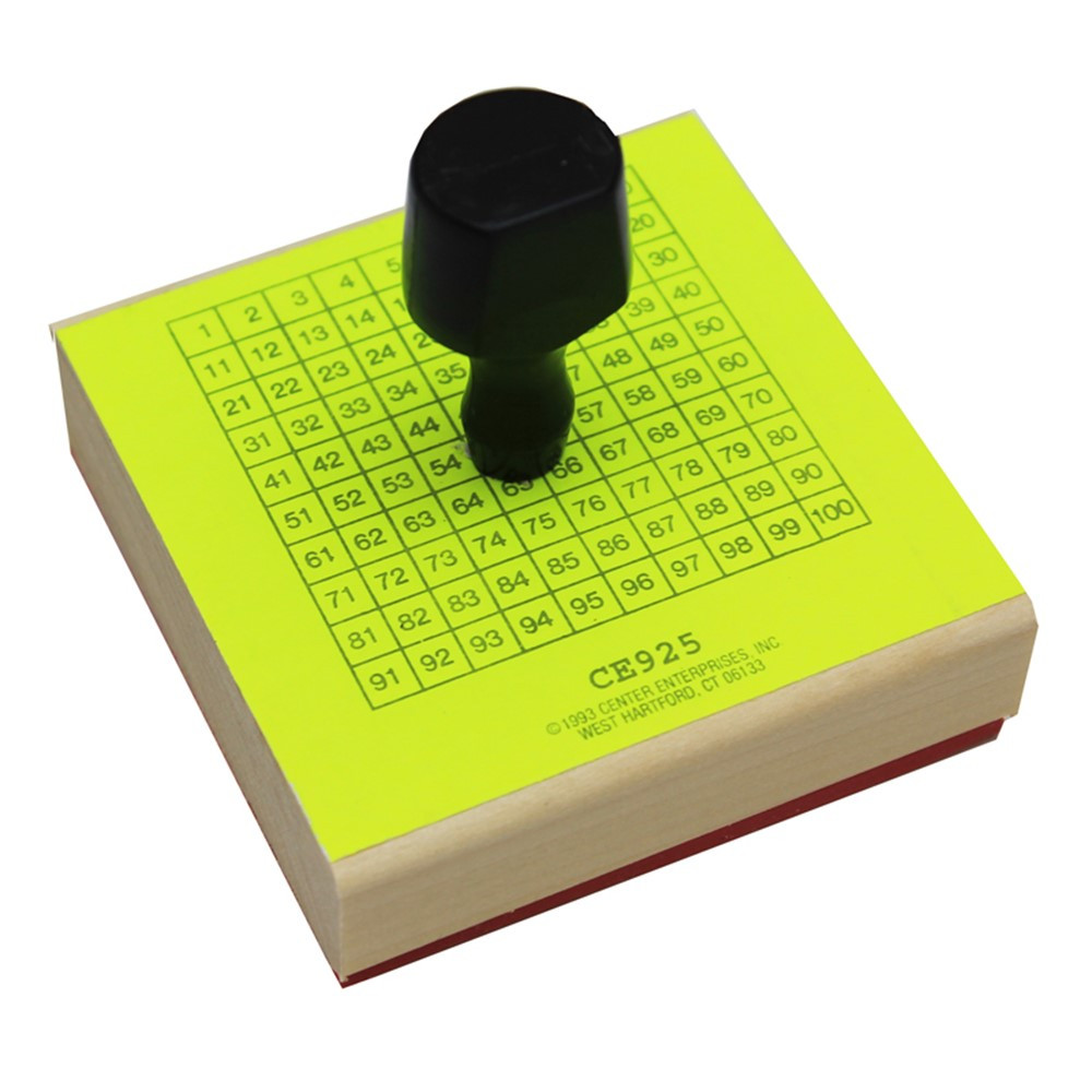 CE-925 - Stamp 1-100 Chart 3-3/4 X 3-3/4 in Stamps & Stamp Pads