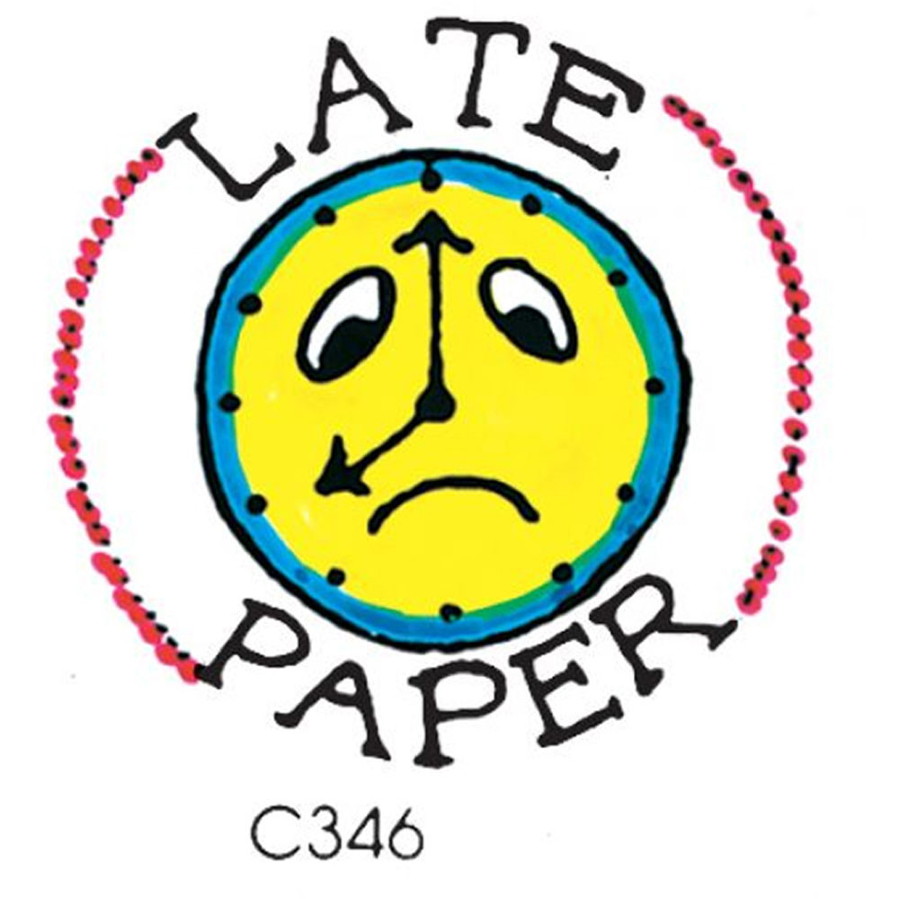CE-C346 - Stamp Late Paper Clock in Stamps & Stamp Pads