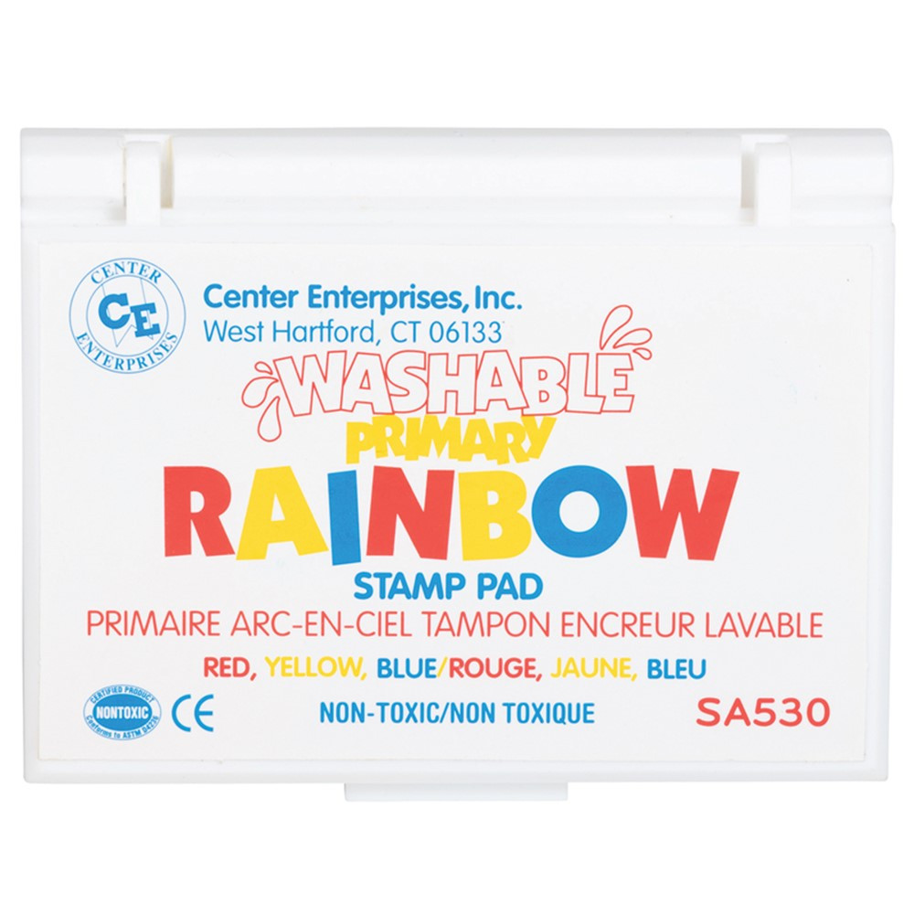 CE-SA530 - Stamp Pad Rainbow Primary 3 Colors Washable in Stamps & Stamp Pads