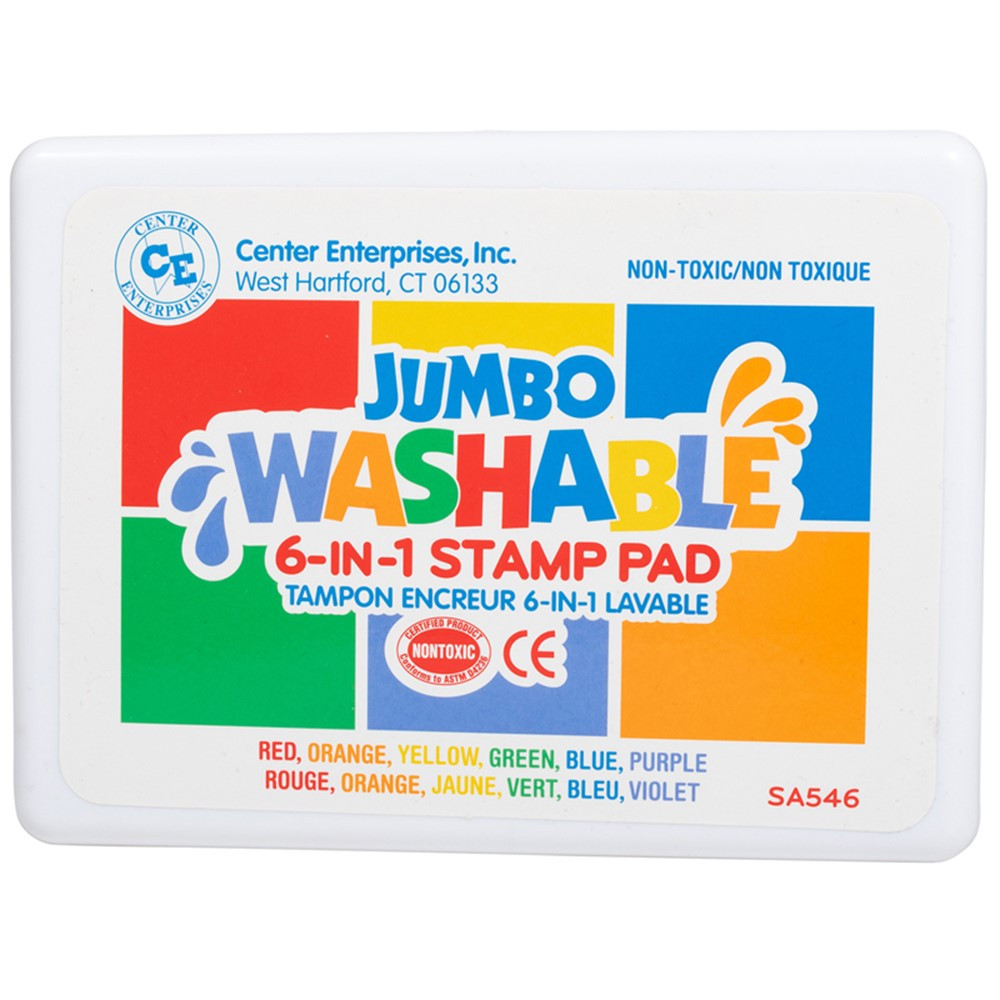 CE-SA546 - Stamp Pad 6 Pads In One / Red Blue Orange Yellow Green Purple in Stamps & Stamp Pads