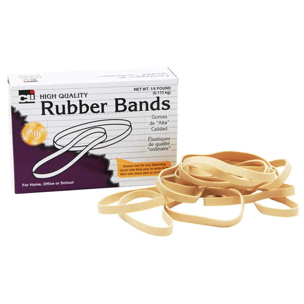 CHL56133 - Rubber Bands 3 1/2 X 1/32 X 1/8 1/4 Lb Box in Mailroom